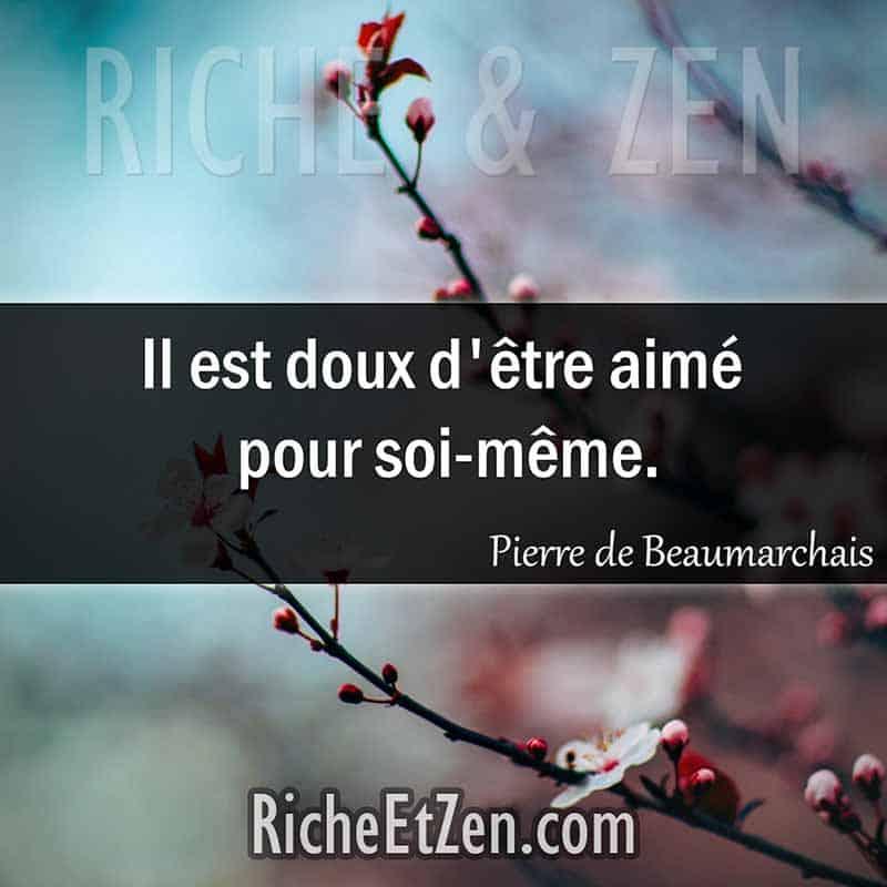 Il est doux d'être aimé pour soi-même. - Pierre de Beaumarchais - citation sur l'amour - des citations d'amour - les citations d'amour - citations amour - citations sur l'amour - citations d'amour - citations d amour - citations sur l amour