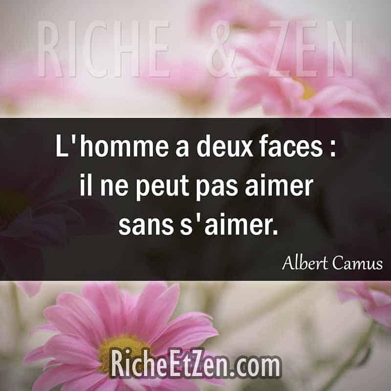L'homme a deux faces : il ne peut pas aimer sans s'aimer. - Albert Camus - citation sur l'amour - des citations d'amour - les citations d'amour - citations amour - citations sur l'amour - citations d'amour - citations d amour - citations sur l amour