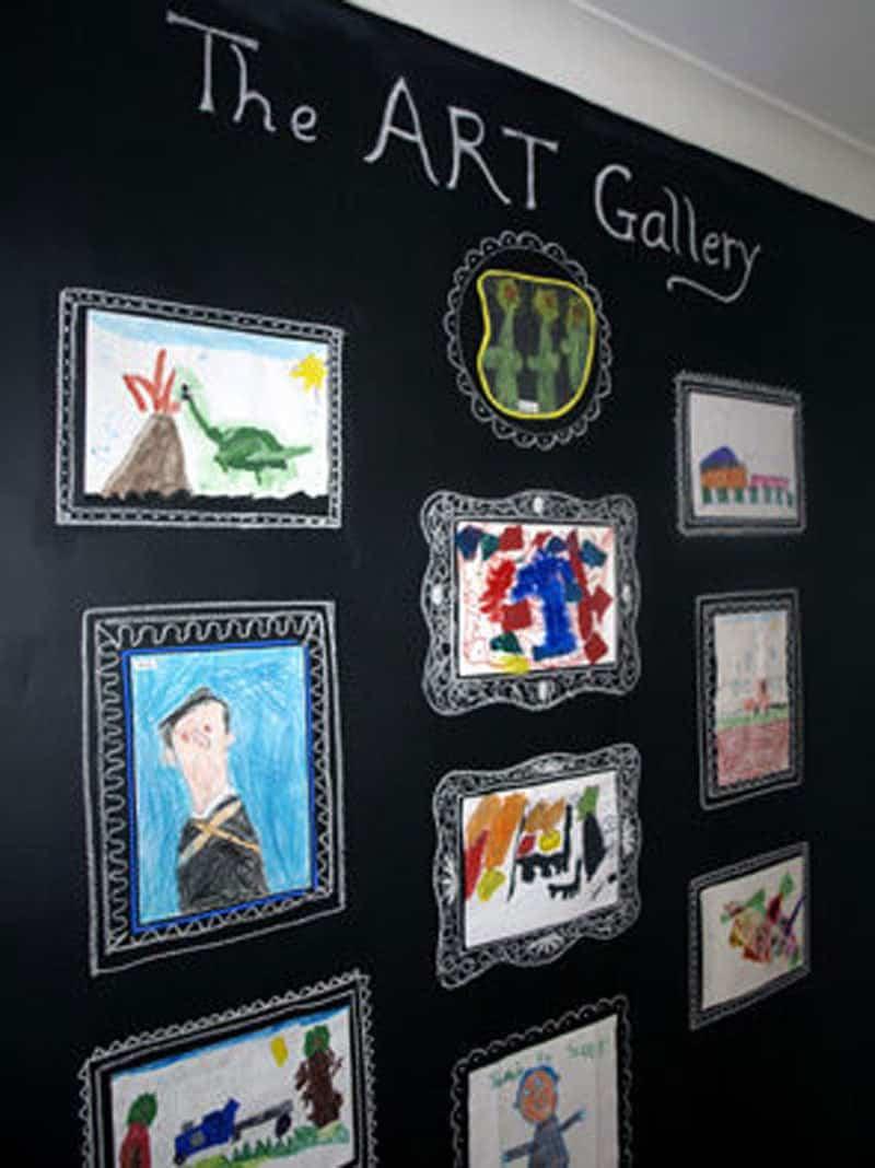 peinture àla craie - peinture ardoise - galeries d'art