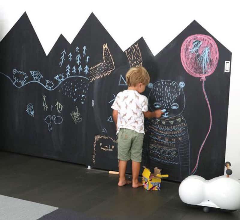 peinture à la craie - peinture ardoise - dessiner sur les murs